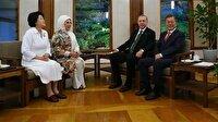 Cumhurbaşkanı Erdoğan eşiyle Kore Evi'nde ağırlandı
