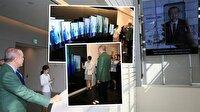 Erdoğan'a Güney Kore'deki Samsung tesisinde 'görüntülü' jest