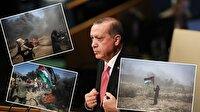 """Cumhurbaşkanı Erdoğan'dan """"işgal altındaki toprakların onurlu direnişçilerine"""" tarihi mesajlar"""
