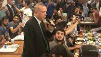 Cumhurbaşkanı Erdoğan sahura davet eden öğrencileri kırmadı