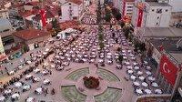 Bolu'da 20 bin kişi birlikte iftar yaptı