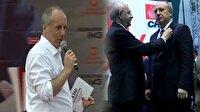 Parti rozetini çıkaran İnce CHP vekillerine oy istiyor