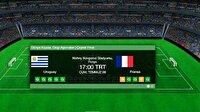 Uruguay Fransa maçı canlı izle! TRT 1 canlı maç izle