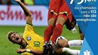 Neymar'ın sahte düşüşü Portekiz'de kamu spotu oldu