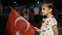 Keçiören'de vatandaşlardan demokrasi nöbeti başlatıldı