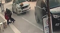 """""""Gelin arabası""""yla soygun girişimi kamerada"""