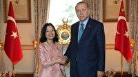 Cumhurbaşkanı Erdoğan Japonya Prensesi ile görüştü