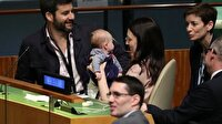 BM'deki zirveye bebeğiyle geldi