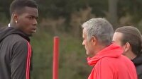 Mourinho ile Pogba'nın gerginliği kameralara yansıdı