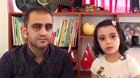 Suriyeli baba kızdan utandıran mesaj