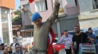 Afrin'den dönen asker davul zurnayla karşılandı