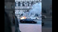3.5 milyon liralık Lamborghini alev aldı