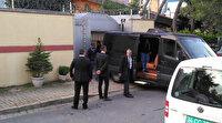 Suudi Başkonsolosluğu'na yanaşan minibüse valizler dolduruldu