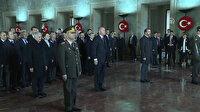 Cumhurbaşkanı Erdoğan ve beraberindeki heyet Anıtkabir'i ziyaret etti