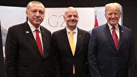 Erdoğan ile Trump'ın fotoğraf çekimine FIFA başkanı da katıldı
