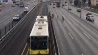Metrobüse kaçak binmek isteyen çocuklar tehlike saçtı