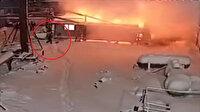 İşçiler patlamada ölümden saniyelerle kurtuldu