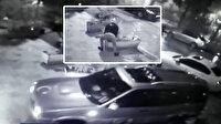 Önce saksıyı kaldırdı sonra husumetlisinin işyerine arabayla daldı