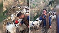 Rizeli çobandan muhteşem Karadeniz türküsü