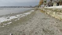 Silivri'de deniz kıyıdan 50 metre geri çekildi