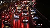 İstanbul'da 'yağmur' trafiği
