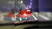 Makas atarken FSM Köprüsü'nde kaza yaptı