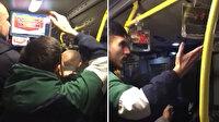 Metrobüste taraftarlar birbirine girdi