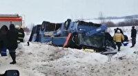 Çocukları taşıyan otobüs takla attı: 7 ölü