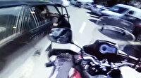 Eminönü'nde 'açılan kapı' kazası kamerada