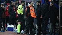 Ümraniyespor-Trabzonspor maçında tartışma çıkartan penaltı kararı