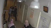 Sağlık ocağında doktora saldırı kamerada