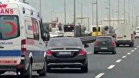 Ambulansa yol vermeyen sürücüye bin 320 lira ceza