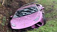 1 milyon 350 bin TL'lik Lamborghini'yi bir çukurda terk etti
