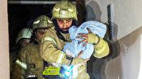 Güngören'de 5 katlı binada yangın: 4'ü çocuk 16 kişi kurtarıldı