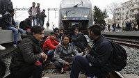 Yunanistan'da göçmenler tren seferlerini durdurdu