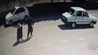 Otomobilden atlayan kadını darp edip yeniden bindirdi