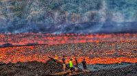 Hawaii'de aktif volkanın içine düşen Amerikalı turist yaralı kurtuldu