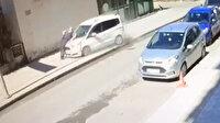 Cinayet gibi kaza: Kaldırımdaki yaşlı adamı metrelerce sürükledi