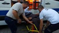 77 yaşındaki kadın oy kullanmaya ambulansla getirildi