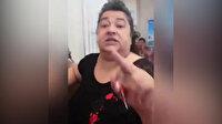 Başörtülü kadına çirkin saldırı