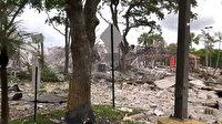 AVM'de patlama yaşandı olay yeri savaş alanına döndü