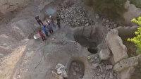 Drone görüntüledi: 4 kişi suçüstü yakalandı
