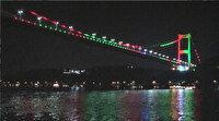 FSM Köprüsü Afganistan bayrağı renkleriyle ışıklandırıldı