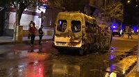 PKK yandaşları Diyarbakır'da minibüse saldırdı