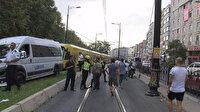 Fındıkzade'de minibüs tramvay yoluna girdi