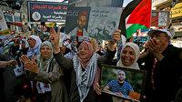 Gazze'de açlık grevindeki Filistinli tutuklulara destek