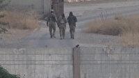 YPG'li teröristler sınırda böyle görüntülendi