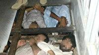 Göçmenler kamyonette böyle saklandı