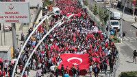 Hakkari'den Diyarbakır'daki annelere destek yürüyüşü