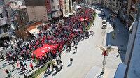 Hakkari'de 'teröre lanet kardeşliğe davet' yürüyüşü